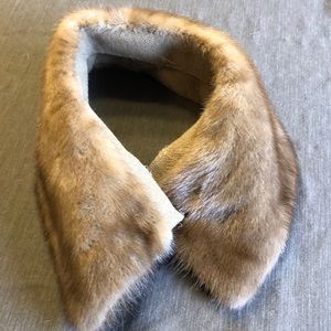 Vintage Estate Brown Real Mink Fur Collar